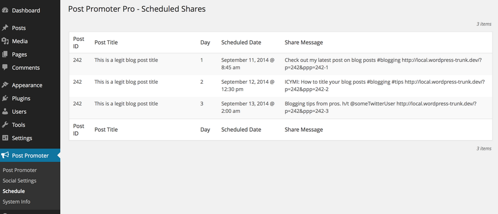 Quite a few improvements since this 1.0 schedule view.
